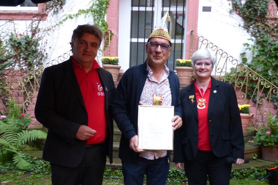 CCO – Ehrenkappe für Harald Romberg
